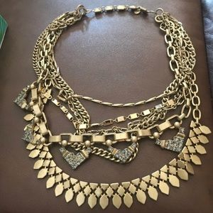 Stella and Dot Gold Versatile 8 Way Necklace